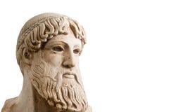 Deus grego no meio perfil horizontal fotografia de stock royalty free
