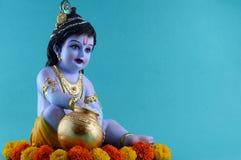 Deus Hindu Krishna imagens de stock