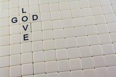 Deus/palavras cruzadas do amor Imagens de Stock Royalty Free