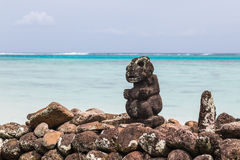 Deus polinésio Tiki imagens de stock