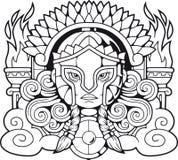 Deusa Athena Pallas do grego clássico ilustração royalty free
