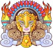 Deusa Athena Pallas do grego clássico ilustração stock