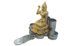 Deusa da fortuna isolada no branco Imagem de Stock