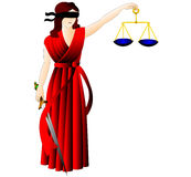 A deusa de justiça-Femida. ilustração stock