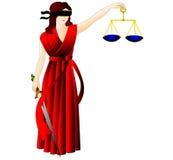 A deusa de justiça-Femida. Foto de Stock Royalty Free