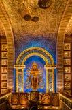 Deusa de madeira bonita de Durga Fotografia de Stock Royalty Free