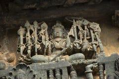 Deusa Durga Templo de Chennakeshava, Kesava ou templo de Vijayanarayana imagens de stock royalty free