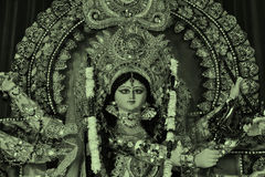 Deusa Durga View In Different Version imagem de stock