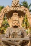 Deusa Hindu Lakshmi Escultura da pedra de Humpi Fotografia de Stock Royalty Free