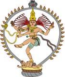 Deusa Kali do vetor ilustração do vetor