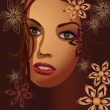 Deusa nas flores. Ilustração Royalty Free