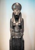 Deusa Sekhmet em British Museum em Londres (hdr) imagens de stock royalty free