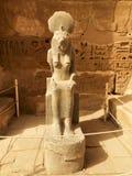 Deusa Sekhmet no templo de Ramesses III imagem de stock royalty free