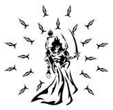 A deusa Shiva Stylized isolou-se ilustração stock