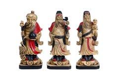 Deuses afortunados chineses, Fu Lu Shou Imagem de Stock Royalty Free