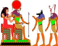 Deuses de Egipto ilustração stock