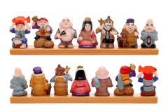 Deuses do asiático sete da fortuna Imagens de Stock Royalty Free