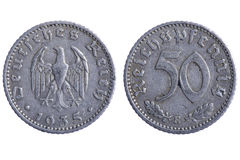 Deutches reich coins Stock Photos
