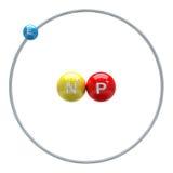 Deuterium atom on white background Royalty Free Stock Photos