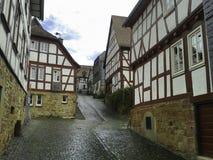 Deutsch-gestaltete Häuser Lizenzfreies Stockbild