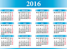 Deutsch Kalender 2016 German Calendar 2016 Stock Photography