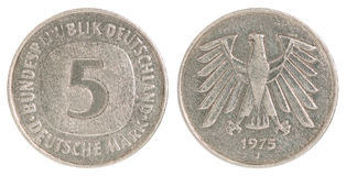 Deutsch Mark moneta Zdjęcie Royalty Free