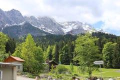Deutsche Alpen während des Sommers Stockbild