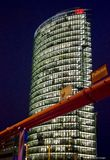 Deutsche Bahn building at night, Berlin Royalty Free Stock Photos