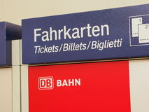 Deutsche Bahn ticket machine Royalty Free Stock Photography