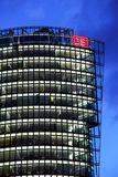 Deutsche Bahn Tower at Potsdamer platz in Berlin Royalty Free Stock Photos
