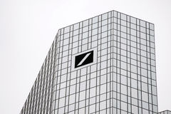 The Deutsche Bank AG building royalty free stock photos
