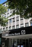 Deutsche Bank branch royalty free stock photography