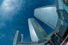 The Deutsche Bank Building. In Frankfurt, Germany royalty free stock image