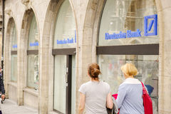Deutsche Bank customers Stock Image
