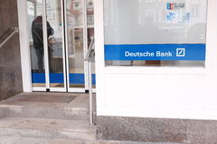 Deutsche Bank entrance Royalty Free Stock Image