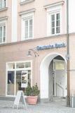 Deutsche Bank. Entrance to a german Deutsche Bank with copy space stock photos