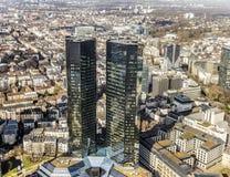 Deutsche Bank, Greentowers in Frankfurt Royalty Free Stock Images