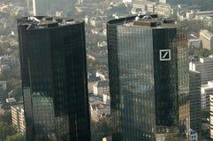 Deutsche Bank högkvarter Fotografering för Bildbyråer