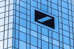 Deutsche Bank headquarter. FRANKFURT, GERMANY - APR 19: Deutsche Bank headquarter building in the city of Frankfurt Main. April 19, 2015 in Frankfurt, Germany Royalty Free Stock Photography