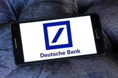 Deutsche bank logo. Logo of deutsche bank on samsung mobile phone a5 stock image