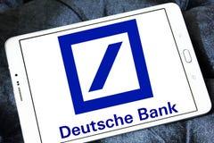 Deutsche bank logo. Logo of deutsche bank on samsung tablet royalty free stock images