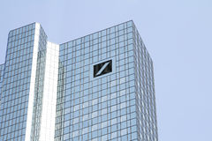 DEUTSCHE Bank. Logo on September 10,2016 in Frankfurt, Germany. AG is a German global banking and financial services company with its headquarters in Frankfurt stock photos