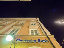Deutsche Bank at night Royalty Free Stock Images