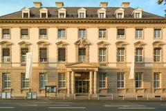 Deutsche Bank-tak Heidelberg, Duitsland - November 1 2016 Stock Afbeeldingen