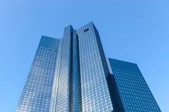 Deutsche Bank. Towers in Frankfurt am Main, Germany royalty free stock photos
