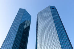 Deutsche Bank. Towers in Frankfurt am Main, Germany royalty free stock photography