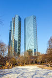 The Deutsche Bank Twin Towers in Frankfurt am Main, also known as Deutsche Bank Headquarters Royalty Free Stock Images