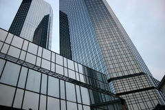 Deutsche Bank twintowers in Frankfurt Royalty Free Stock Image
