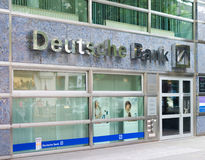 Deutsche banka gałąź w Berlin Obrazy Stock