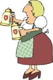 Deutsche Bier-Maid stock abbildung
